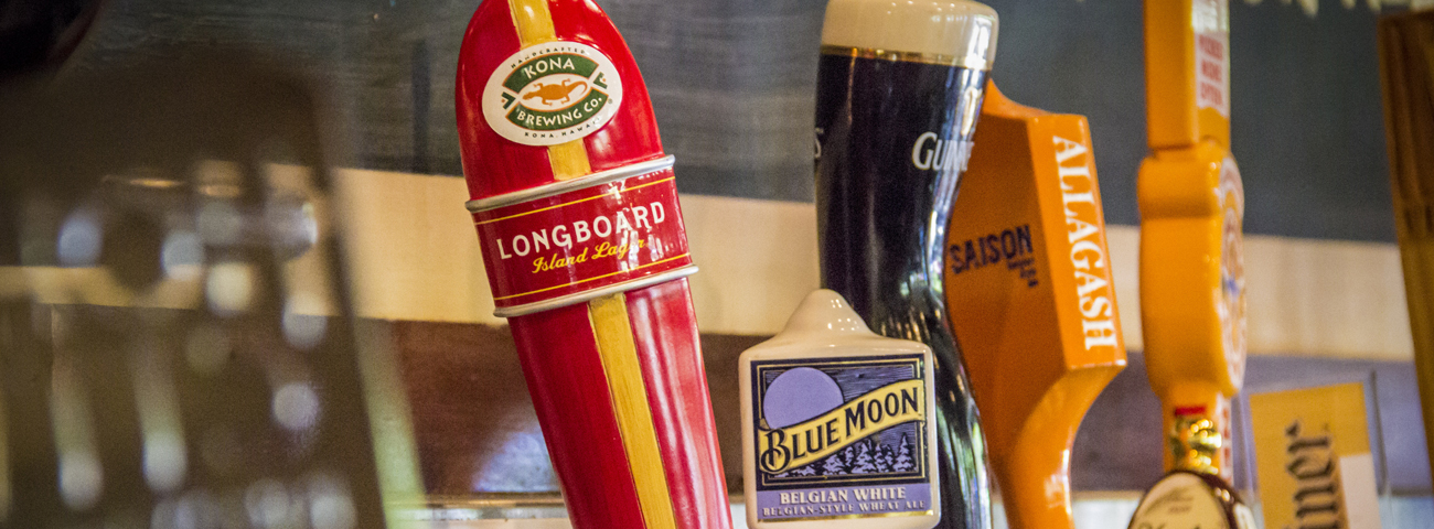Beer Taps at restaurant in Mount Pleasant, SC