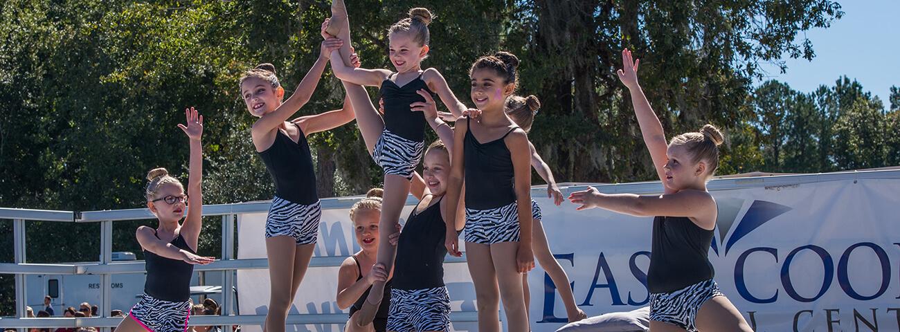 Dancers at children's festival in mount pleasant, SC