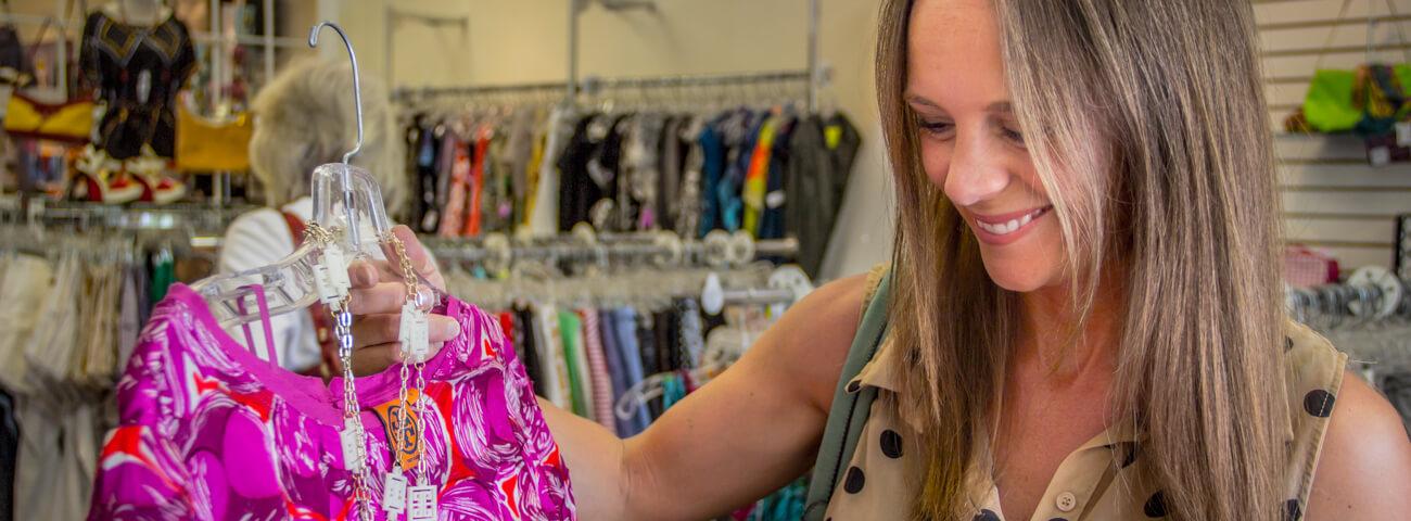 Woman shops in Mount Pleasant, SC