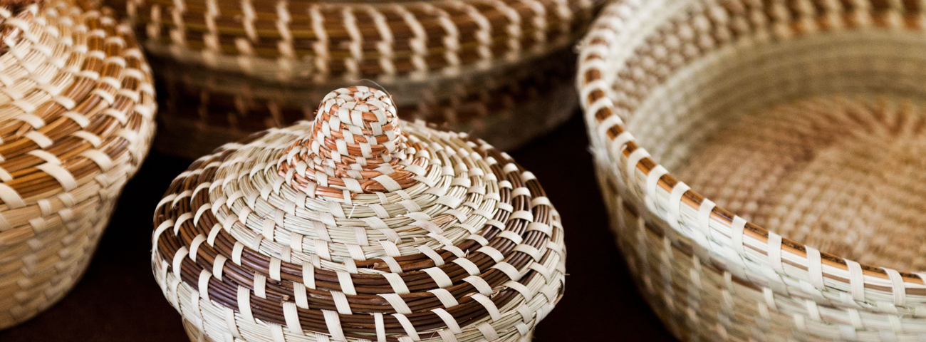 Sweetgrass baskets from Mount Pleasant, SC