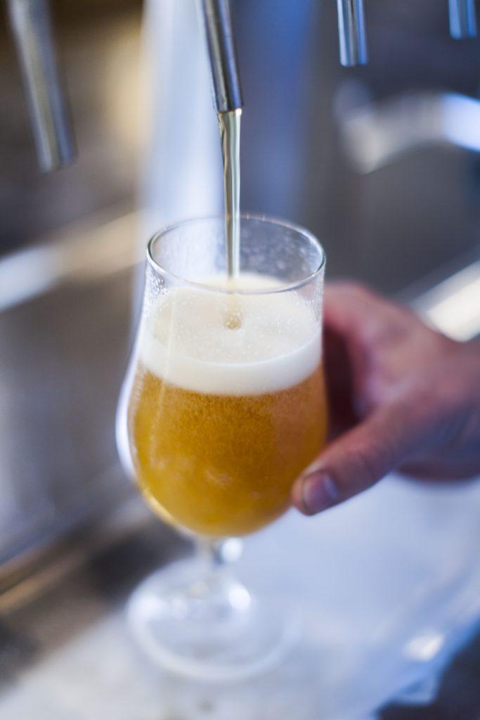 Beer poured at Westbrook Brewery