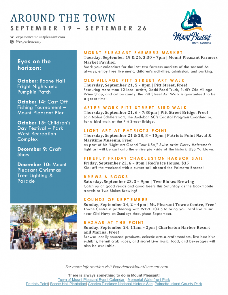 Mount Pleasant Holiday Farmers Market And Craft Show
